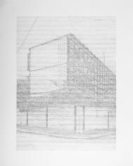 Seher Shah, Single Utopias (Golconde III, Pondicherry), 2017, Graphite on paper, 127 x 101.6 cm
