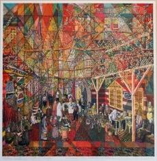 Khaldoun Chichakli, Old Damascus Colors Subtractions on Nofarah Area, 2001, Water color on paper, 34.5 x 33.7 cm