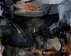 Zsolt Bodoni, The Boat, 2012, Acrylic and oil on canvas, 195 x 245 cm