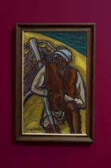 Inji Efflatoun, The Fisherman, 1958, Oil on canvas, 67.1 x 42.3 cm