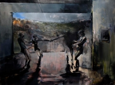 Zsolt Bodoni, Play, 2012, Acrylic and oil on canvas, 195 x 265 cm