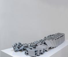Nazgol Ansarinia, Ceramic Brick, Demolishing buildings, buying waste, 2017, Poly-urethane, paint, 71.1 x 23.3 x 149.1 cm