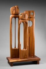Chaouki Choukini, Tournesols A, 2014, Acajou/Mahogany, 141 x 76 x 38 cm
