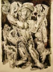 Elias Zayat, Resurrection, 2014, Watercolor on paper, 50 x 65 cm
