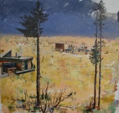 Marius Bercea, Limited Hills of Eternity, 2012, Oil on canvas, 150 x 150 cm