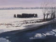 Serban Savu, Procession II, 2012, Oil on canvas, 30 x 40 cm