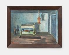 Samir Rafi, Lifes Tragedy,1949, Oil on panel,58.5 x 78 x 3 cm