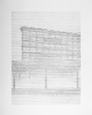 Seher Shah, Single Utopias (Golconde II, Pondicherry), 2017, Graphite on paper, 127 x 101.6 cm