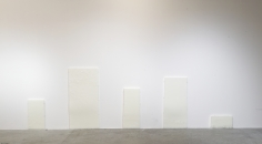 Elizabet Cerviño, Sigh in a niche (Suspuro en Nicho), 2018, Five panels made of parafin wax, Dimensions variable