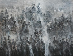 Ahmad Moualla, Untitled, 2011, Mixed media on canvas, 154 x 200 cm