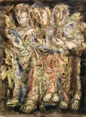Elias Zayat, Vision, 2014, Watercolor on paper 55 x 74 cm