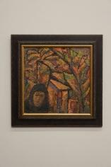 Effat Naghi, Untitled, Acrylic on board, 41.5 x 41.5 cm