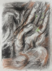 Elias Zayat,Study, 2014, Charcoal and pastel on paper, 75 x 53 cm