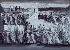 Ahmad Moualla, Untitled, 2011, Mixed media on canvas, 71.5 x 98 cm