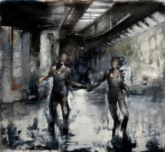 Zsolt Bodoni, Two, 2012, Acrylic and oil on canvas, 195 x 215 cm
