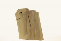 Chaouki Choukini, Oblique, 2019, Chêne/Oak, 49.5 x 39 x 9 cm