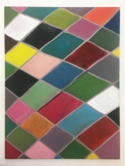 Ana Mazzei, Pierrot, 2018, Vinyl and tempera paint on canvas board