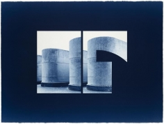 Seher Shah and Randhir Singh, Studies in Form, Barbican Estate (detail), 2018, Cyanotype prints on Arches Aquarelle Paper, 56x 76 cm