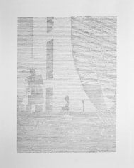 Seher Shah, Brutalist Traces (NDMC-New Delhi), 2015, Graphite on paper, 127 x 101.6 cm