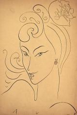 Adham Ismail, Untitled, Ink on carton, 47.5 x 32.5 cm