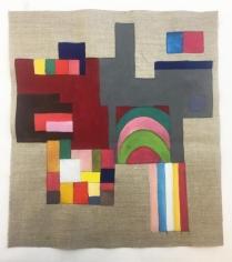 Ana Mazzei, Arcos, 2018, Vinyl and tempera paint on linen