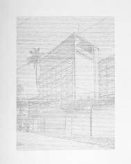 Seher Shah, SingleUtopias (Golconde IV, Pondicherry), 2017, Graphite on paper, 127 x 101.6 cm