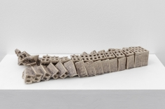 Nazgol Ansarinia, The breaking of a ceramic brick, 2018, Glazed ceramic, 5 x 15 x 35 cm