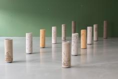 Hera Büyüktaşçıyan, Foundations, 2019, Carpet, metal, Dimensions variable, Composed of 12 pieces