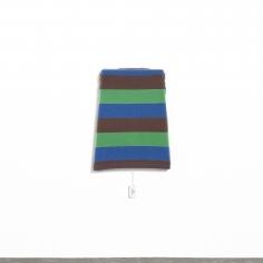 Alessandro Balteo-Yazbeck, Instrumentalized #20, 2017, Worn, backside, striped cotton-Lycra T-shirt semi-stretched flat on canvas