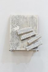 Hera Büyüktaşçıyan, Icons for builders, 2017, Wood and marble, 26.3 x 20 cm