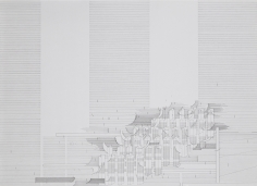 Seher Shah, Flatlands (scrim) (detail), 2015