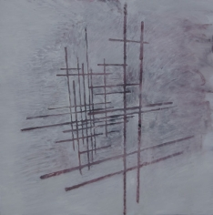Ivan Grubanov, Study for a Memorial, 2010, Oil on canvas, 150 x 150 cm