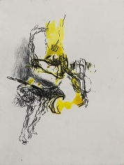 Shawki Youssef, Variation 4, 2013, Mixed media on paper, 48 x 36 cm