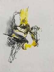 Shawki Youssef, Variation 4, 2013, Mixed media on paper, 48 x 36 cm