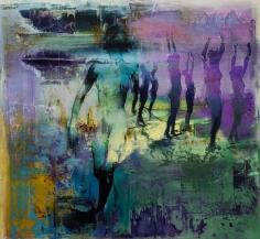 Zsolt Bodoni, Shadow Movements No. 8, 2014, Acrylic on canvas, 200 x 185 cm