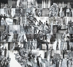 Ahmad Moualla, Untitled, 2008, Mixed media on canvas, 400 x 440 cm