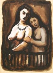 Mahmoud Hammad, Untitled, 1957, Gouache on paper, 35 x 26 cm
