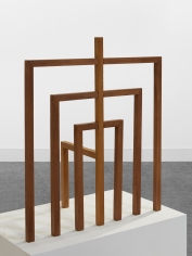 Ana Mazzei, Gate, 2019, Peroba mica wood, wood stain paint