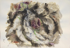 Elias Zayat,Study, 2014, Ink and water color on paper, 52 x 74 cm