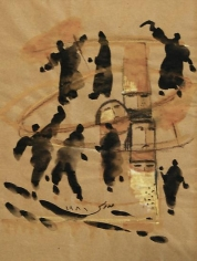 Fateh Moudarres, Untitled, 1981, Watercolor on paper, 38.5 x 29.5 cm