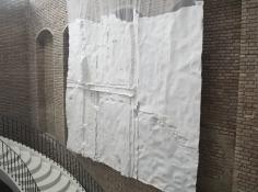 Nazgol Ansarinia, Membrane, 2014, Paper, paste and glue, 550x 500cm