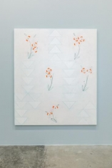 Kamrooz Aram, Ornament for a Quiet Room, 2016, Oil, wax and pencil on canvas, 213.25 x 182.75 cm