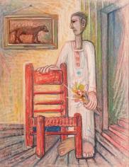 Samir Rafi,Fluer pour Blanche VI,1982