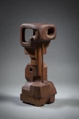 Chaouki Choukini, Obscure 3, 2014, Iroko, 58.5 x 20 x 20 cm