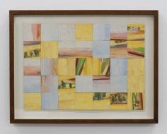 Chaouki Choukini, Paysage Decoupé recomposé 6, 1992, Watercolor on paper, 25 x 30 cm
