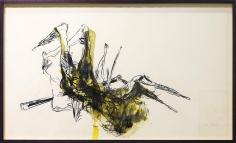 Shawki Youssef, On humdrum killing, 2013, Mixed media on paper, 60 x 100 cm