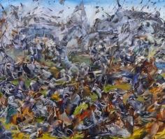 Ali Banisadr, Hypocrisy of Democracy, 2012, Oil on linen, 76 x 91.5 cm