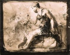 Zsolt Bodoni, Body no. 3/3, 2012, Acrylic on photo, 24 x 19 cm