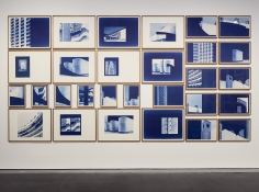 Seher Shah and Randhir Singh, Studies in Form, Barbican Estate, 2018, Cyanotype prints on Arches Aquarelle paper