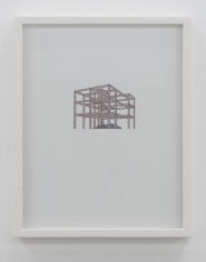 Nazgol Ansarinia,Untitled, Demolishing buildings, buying waste, 2018, Ink and marker on paper, 35.5 x 28 cm